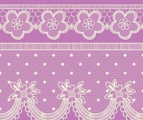 Ornate lace border design vector set 04