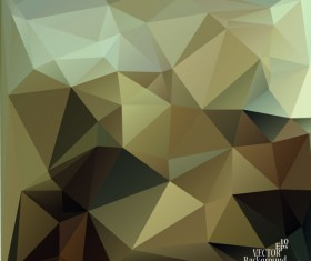 Polygonal geometric dark background vector 03