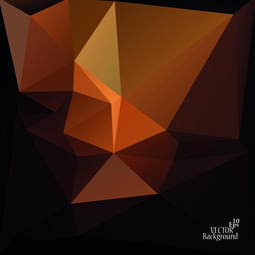Polygonal geometric dark background vector 04