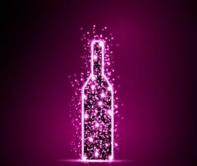 Purple light dot wine vector background