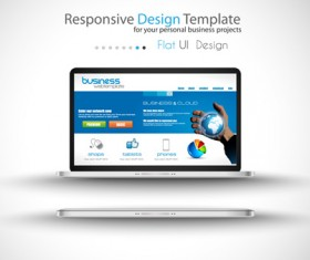 Realistic devices responsive design template vector 02