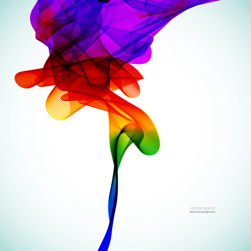 Silk dynamic colorful background art vector 03