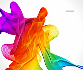 Silk dynamic colorful background art vector 04