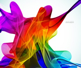 Silk dynamic colorful background art vector 05