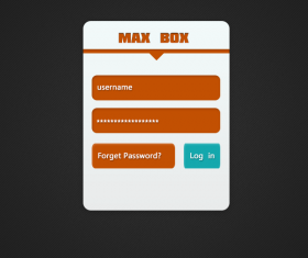 Simple login window psd material