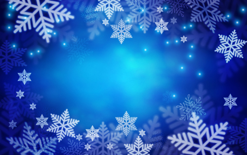 Snowflake with dream blue background vector Vector Background free ...