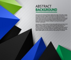 Triangle embossment colored background vector graphics 01