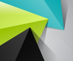 Triangle embossment colored background vector graphics 02
