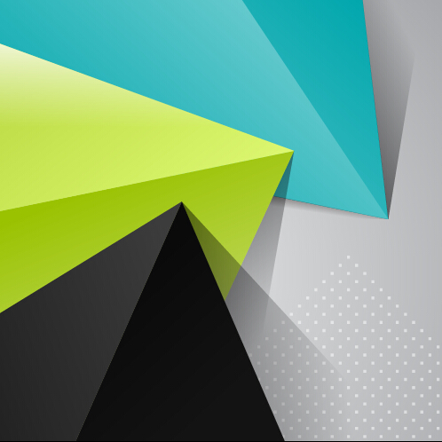 Triangle embossment colored background vector graphics 02 ...