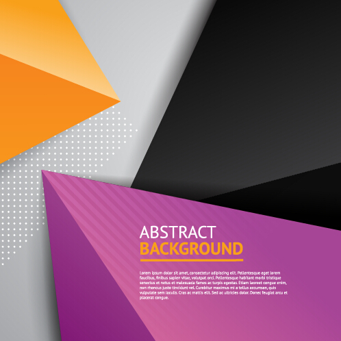 Triangle embossment colored background vector graphics 04