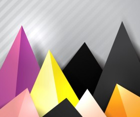 Triangle embossment colored background vector graphics 05