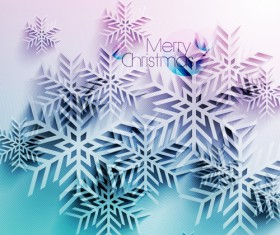 Vector snowflake creative background design 01