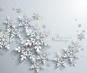 Vector snowflake creative background design 03