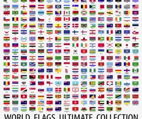 Vector world flags design elements set 02