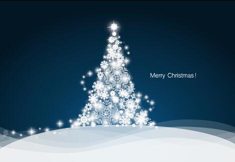 White snowflake christmas tree vectors - Vector Christmas, Vector ...