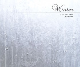 Winter background with water drop vector 01