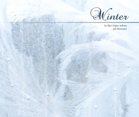 Winter background with water drop vector 02