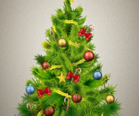 Xmas ornaments with tree background graphics