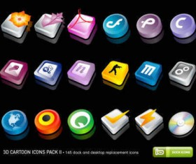 3D Cartoon icons Pack 2