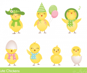 Cute Easter Chickens icons