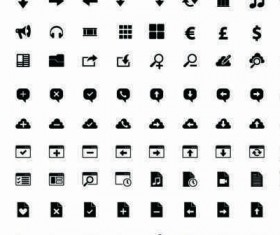 Vector icons for iPhone