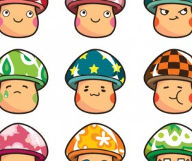 Cartoon mushroom head expression vector