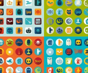 Cute Cartoon Halloween icons