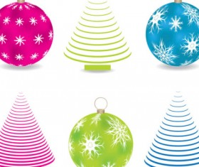 Abstract Christmas tree balls vector