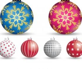 Decorative Christmas tree balls vector