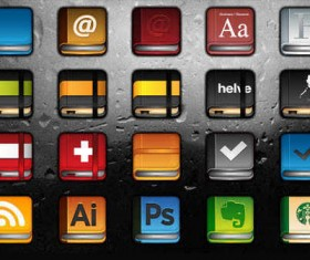 Rounded Square Books icons