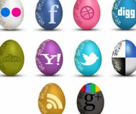 material of Egg Shaped Social icons