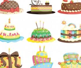 vector cartoon birthday cake