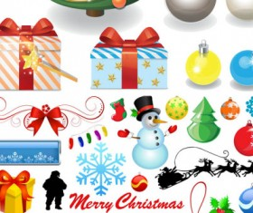 Cartoon Christmas design elements collection