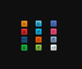 A Clean Mini Social Media icon material
