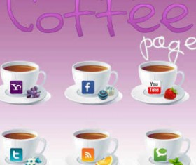 Coffe social icons