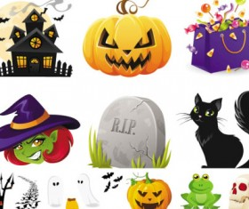 Halloween illustrations vector