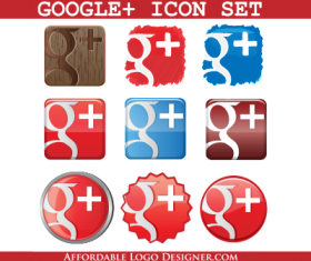 Creative Google Plus icon material