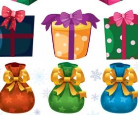 Christmas presents icons vector