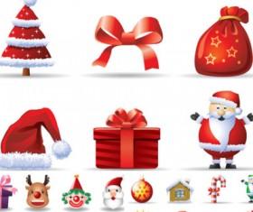 vector cartoon Christmas icons