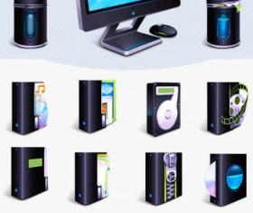 3D Blue Desktop icons