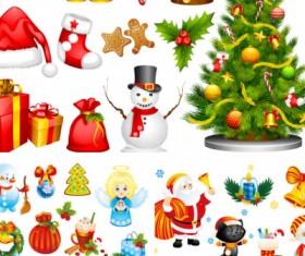 Cartoon Christmas illustrations vector