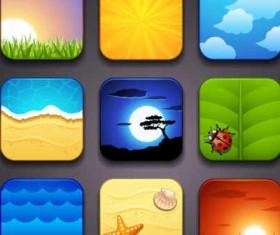 cartoon vector icons