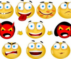 Smileys icons set