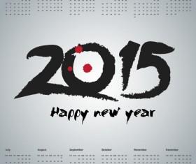 simple grid calendar 2015 vector set 04