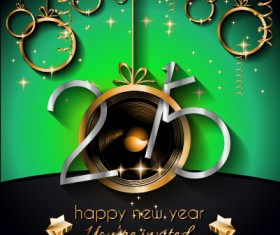 2015 new year golden ornaments background set 04