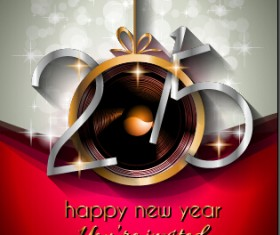 2015 new year golden ornaments background set 07