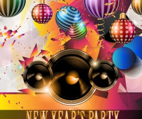 2015 new year party flyer and cover vector 01