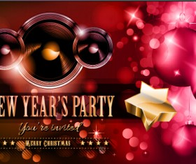 2015 new year party flyer and cover vector 03