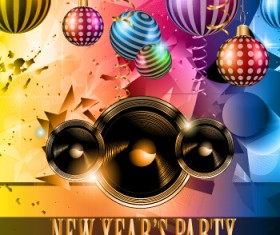 2015 new year party flyer and cover vector 04