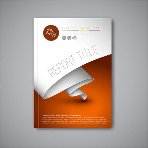 Abstract brochure cover vecto template 06 free download